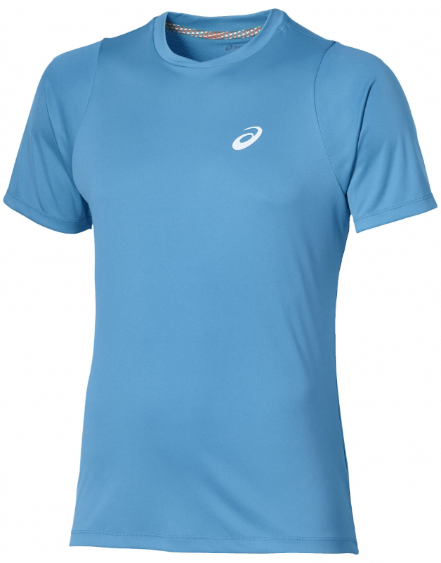 966c1e6ed Asics Club SS Top Blue - Ubrania męskie do Badmintona - sklep Badminton