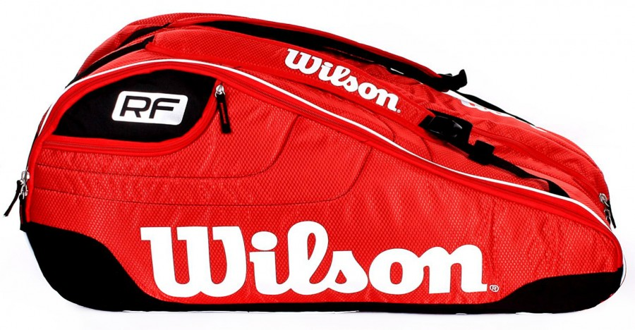 d09cc531505 Wilson Federer Team III 12 Pack Red - Torby na rakiety