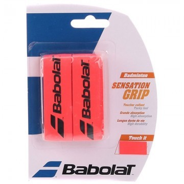 Babolat Sensation Grip Fluo Red x2