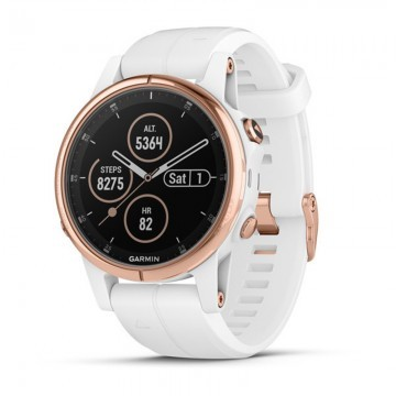 Garmin Fenix 5S Plus Sapphire Rose Gold / White Band