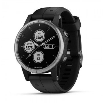 Garmin Fenix 5S Plus Silver / Black Band