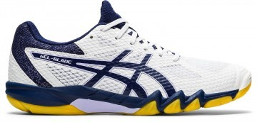 ASICS Gel-Blade 7 White / Peacoat