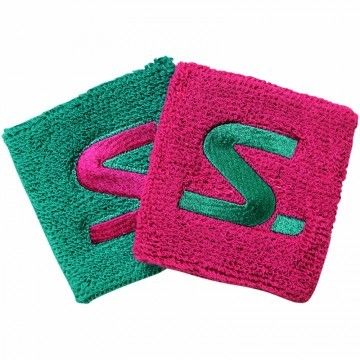 Salming Wristabnd Short 2 Pack Pink Green