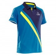 koszulka męska Salming PSA Performance Polo 2.0 Blue