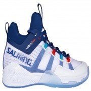 Salming Kobra Mid 2 White Blue buty do badmintona