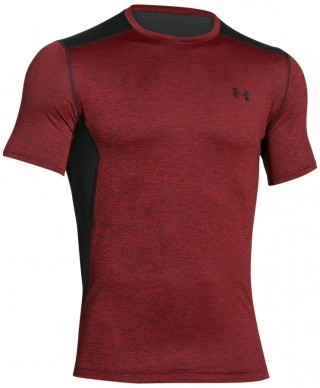 koszulka męska Under Armour T-shirt Raid-SS Red Black