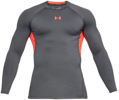 Under Armour HeatGear Long Sleeve Grey Orange