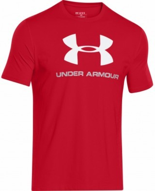 koszulka męska Under Armour Charged Cotton® Sportstyle Logo T Czerwona
