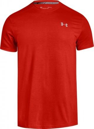 Under Armour Threadborne Streaker Short Sleeve Red