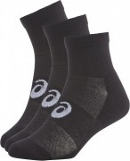 Asics Quater Sock Black 3 Pack