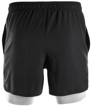 Under Armour Qualifier 2-IN-1 Short Black/Grey