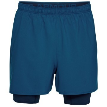 Under Armour Qualifier 2-IN-1 Short Navy Black
