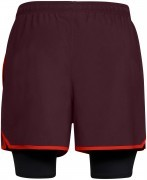 Under Armour Qualifier 2IN1 Short Red / Black