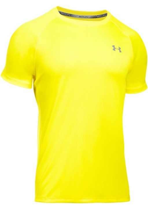 Under Armour HeatGear Run Short Sleeve Tee Yellow