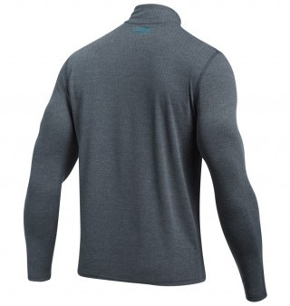 koszulka męska Under Armour Threadborne Fitted 1/4 ZIP Gray/Blue