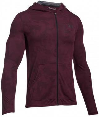 Under Armour Threadborne Fitted FZ Hoody Red/Gray