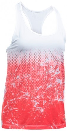 Under Armour Hex Delta Racer Tank White Red