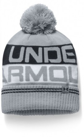 Under Armour Men's Retro Pom Beanie 2.0 Gray Black
