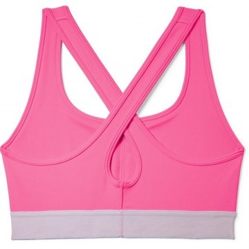 Under Armour Mid Crossback Bra Pink