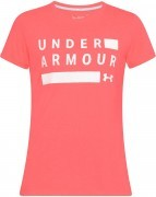 koszulka damska Under Armour Threadborne Graphic Twist Short Sleeve Pink