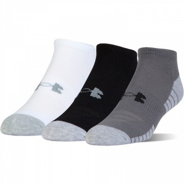 Under Armour Heatgear Tech No Show 3Pack White Grey