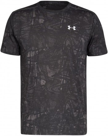 Under Armour Streaker Printed Short Sleeve Crew Green Grey