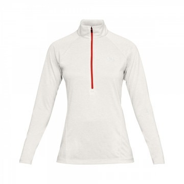 Under Armour Tech 1/2 Zip Twist White Red