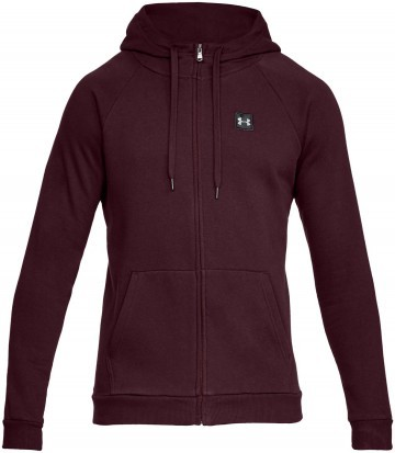 Under Armour Rival Fleece Full Zip Hoodie Red