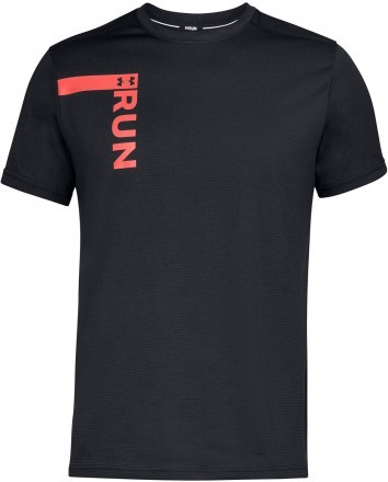 Under Armour UA Run Tall Graphic Short Sleeve Black