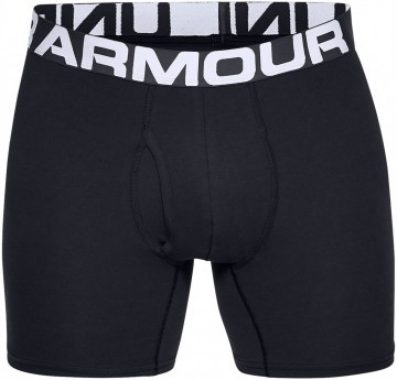 Under Armour Charged Cotton 6in 3Pack Black