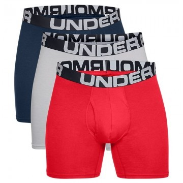 Under Armour Charged Cotton 6in 3Pack Red