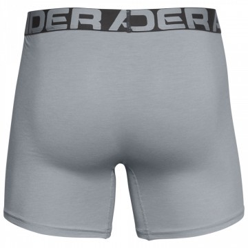 Under Armour Charged Cotton 6in 3-Pack Grey - Bokserki