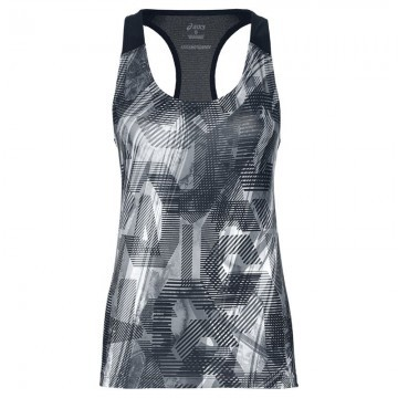 ASICS Fitted GPX Tank Gray / White