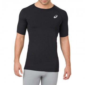 ASICS Base Layer Short Sleeve Top Black