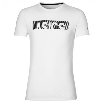 ASICS Essential Diagonal SS Top Brilliant White