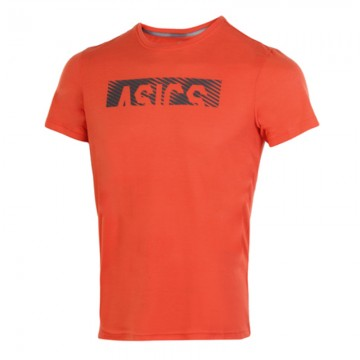 ASICS Essential Diagonal SS Top Orange