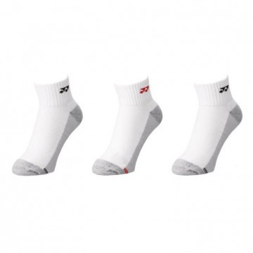 Yonex Socks 19157 Low Cut 3-Pack White