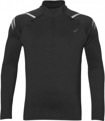 Asics Icon Winter Long Sleeve 1/2 Zip Top Black