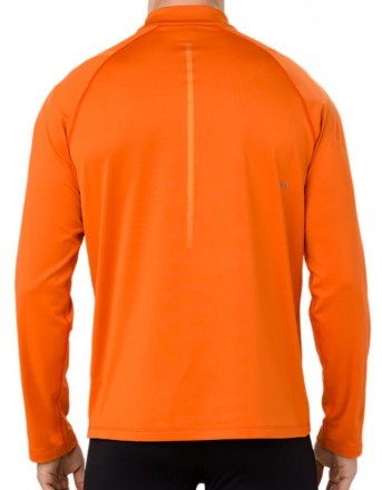 Asics Icon Winter Long Sleeve 1/2 Zip Top Orange