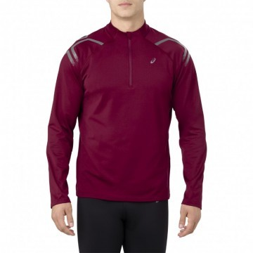 Asics Icon Winter Long Sleeve 1/2 Zip Top Cordovan
