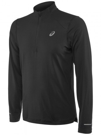 Asics Long Sleeve 1/2 Zip Jersey Performance Black