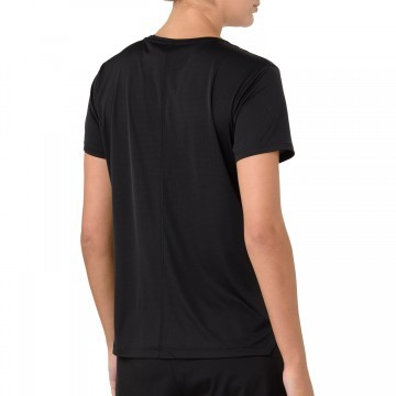 Asics Silver Short Sleeve Top Performance Black