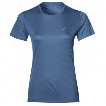 ASICS Silver Short-Sleeved Top Blue