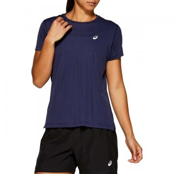 ASICS Silver Short-Sleeved Top Peacoat