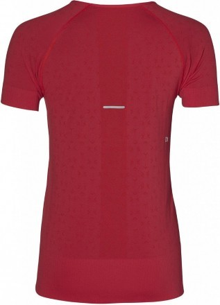 Asics Seamless Short Sleeve Texture Classic Red