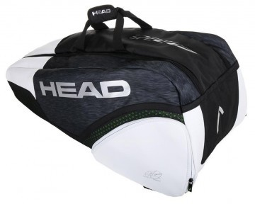 Head Djokovic 9R Super Combi Black White