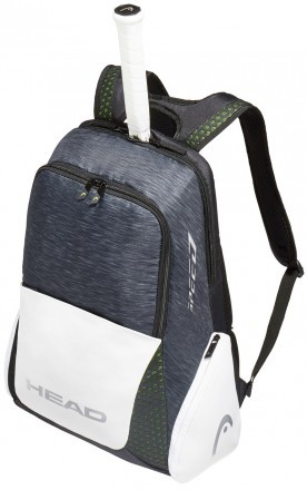 Head Djokovic Backpack Black White