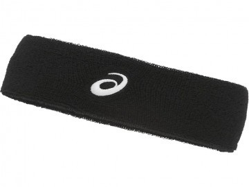 Asics Performance Head Band Black Brilliant White