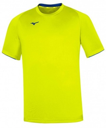 Mizuno Core Short Sleeve Tee Yellow Fluo / Royal