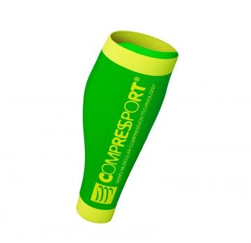 Compressport Calf R2 FLUO V2 GREEN